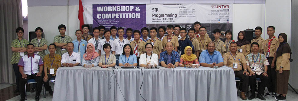 Hasil gambar untuk workshop and competition programing sql universitas tarumanagara